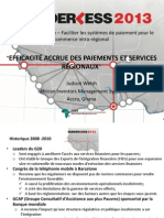 Efficacité accrue des paiements et services regionaux