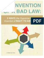 Invention of a Bad Law