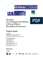 Strategies for Development and Diffusion of Energy Efficient Distribution Transformers