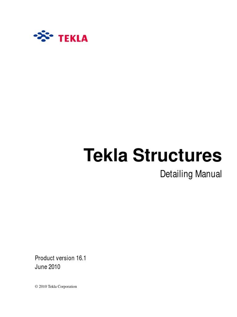 tekla structures detailing manual license screw rh scribd com