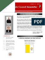 Special Vatican Newsletter