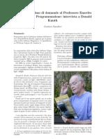 Intervista a Donald Knuth