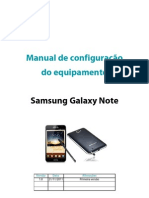 Configuracoes Samsung Galaxy Note