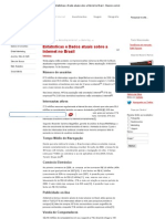 Estatísticas e Dados atuais sobre a Internet no Brasil - Masiero.com
