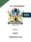 City of Brandon 2013 Draft Financial Plan