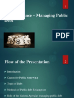 Public Finance – Managing Public Debt
