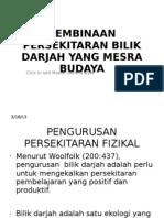 87546250 Pembinaan Persekitaran Bilik Darjah Yang Mesra Budaya