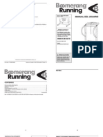 Manual Cinta de Correr Boomerang Running