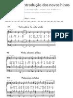 Apoio ao Estudo - Introdução dos novos hinos com Partitura, Hinário 5