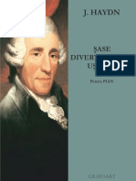 Haydn - Sase divertismente usoare pentru pian