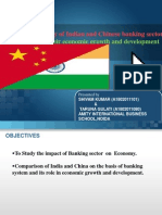 Impact of banking sector on economic growth of india with relation to china