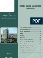 Kamu Borç Yönetimi Nisan 2012