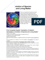 Evolution of Species and Living Matter (Vladimir Vernadsky)