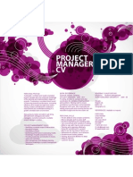 Creative Project Manager CV Template