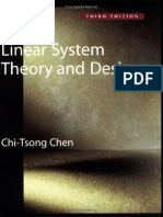 Linear System Theory and Design By Chen 3rd Edition