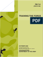 FM 7-0 Training the Force