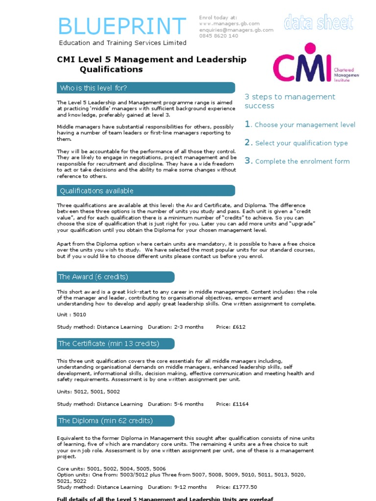 Level 5 management and leadership qualification guide project level 5 management and leadership qualification guide project management leadership mentoring malvernweather Gallery