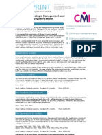 Guide to CMI  Level 7 Stratgic Management and Leadership Qualifications