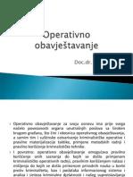 Operativno obavjestavanje