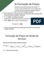 Cálculo de Formação de Preços