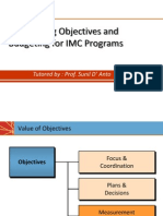 8. Establishing Objectives & Budgeting for IMC Programs