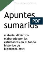 Apuntes sumarios [abril 2008]