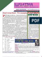 ASTROAMERICA NEWSLETTER DATED MARCH 19, 2013