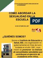 N[1]. Abordaje de La Sexualidad en La Escuela