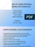 Applications of Computational Fluid Dynamics in Hydraulics