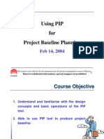 12 Using PIP for Project Baseline Planning