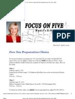 Focus on Five - Bonnie Crombie's Ward 5 E-Newsletter (March 18 - April 1, 2013)