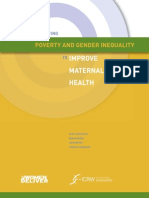 Targeting Poverty Gender Inequality Improve Maternal Health 0