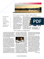 WDI News Letter Spring 2013