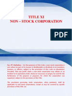 Non Stock Corporation