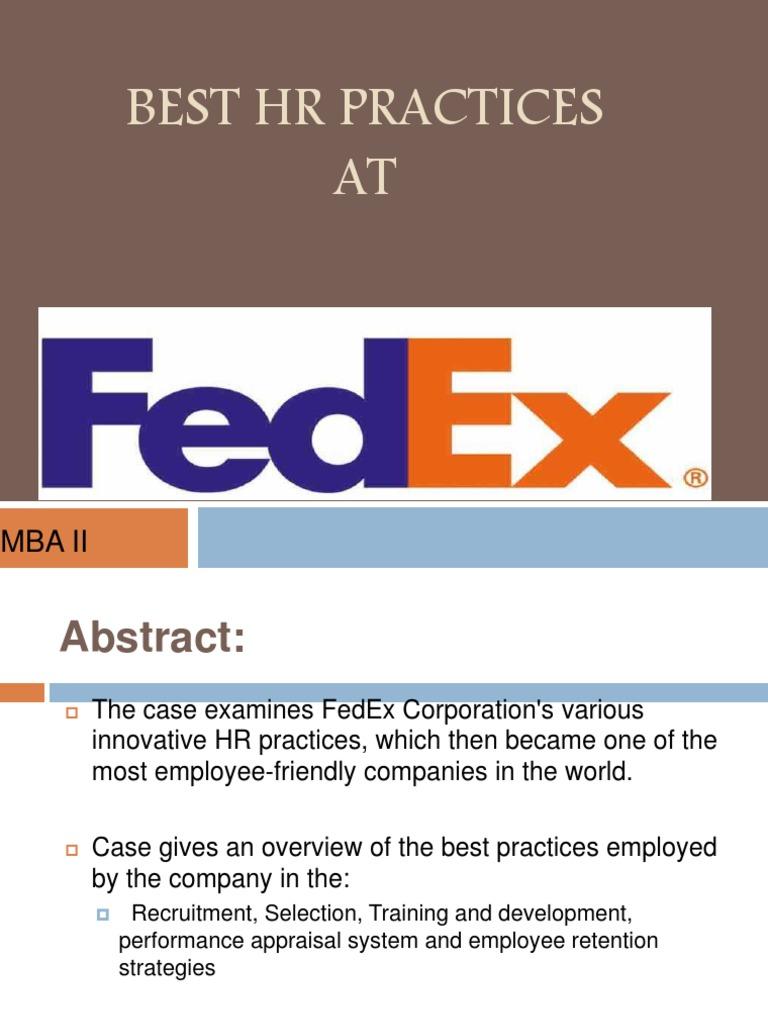 fedex hr policies and practices fed ex employment rh es scribd com FedEx Ground FedEx Office Company