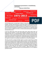 Activity of Different Bangladeshi Governments on Rehabilitating War Criminals From 1972-2013