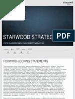 Starwood Strategy 2013