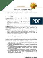 1.Características de los grupos de trabajo