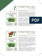 """Feeding People is Easy"" Book Flyer"