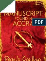 Paulo Coelho - Manuscript In Accra