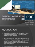 Optical Moulation Techniques