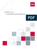 SPSS 16.0 Command Syntax Reference