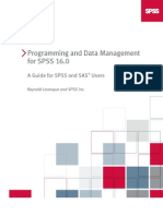 Programming and Data Management for SPSS 16.0 a Guide for SPSS and SAS Users