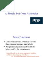 Simple Pass2 Assembler