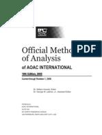 AOAC 2005