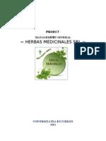 Valori Intr-o Organizatie- Proiect Herbal  Medicinales