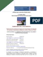 CONVOCATORIA A LA PRESENTACIÓN DE PONENCIAS, TALLERES Y CARTELES (Fechas Extendidas) ACURIL 2013