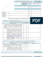 Formato de Evaluacion Del Programa de Sst