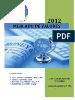 MERCADO DE VALORES - Decreto Legistativo N° 861