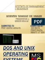 Dos and Unix